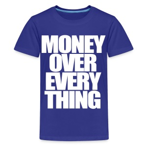 Money Over Everything Kids' Shirts - stayflyclothing.com - Kids' Premium T-Shirt