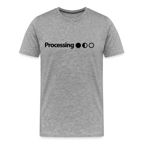 Processing in Black - Men's Premium T-Shirt