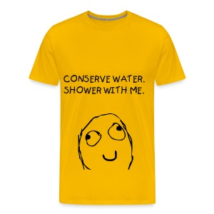 CONSERVE WATER - BLACK FLEX/KIDS FONT - Men's Premium T-Shirt
