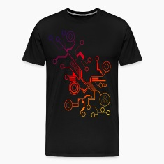 Colorful Circuit LARGE PRINT T-Shirts
