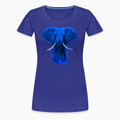 african elephant blue colored- digital Women's T-Shirts