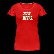 Women's T-Shirts ~ Women's Premium T-Shirt ~ ich liebe NYC