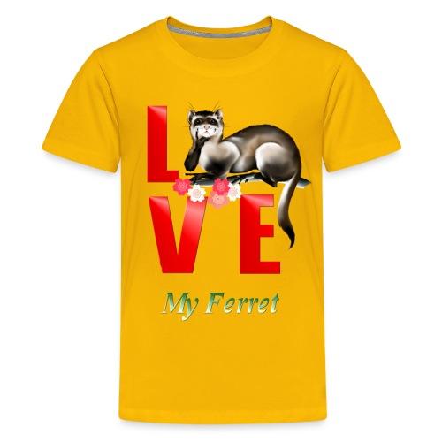 Love Ferret - Kids' Premium T-Shirt