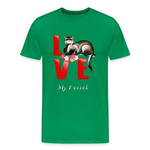 Love Ferret - Men's Premium T-Shirt