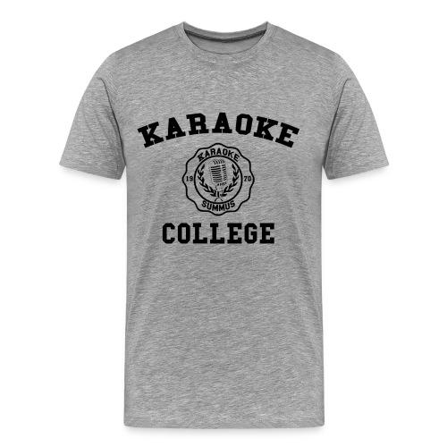 Karaoke College Alumni Big & Tall Size T-Shirt - Men's Premium T-Shirt