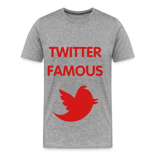 TWITTER FAMOUS - RED FLEX/VAG ROUNDED FONT/RED BIRD - Men's Premium T-Shirt