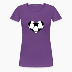 Women's Soccer Heart T-Shirt