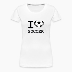 Women's I Love Soccer T-Shirt