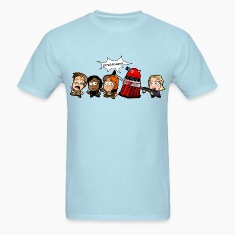 Chibi Doctor Who - Journey's End Cartoon T-Shirt (Male)