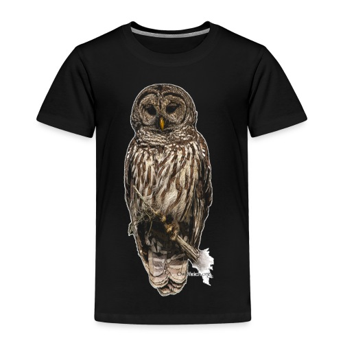 Barred Owl 8630_for Black - Toddler Premium T-Shirt