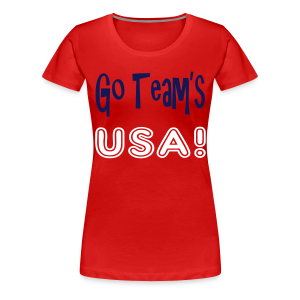 GO TEAMS USA - Women's Premium T-Shirt