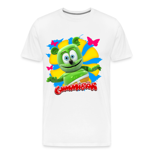 Gummibär (The Gummy Bear) Butterflies Men's 3XL & 4XL T-Shirt - Men's Premium T-Shirt