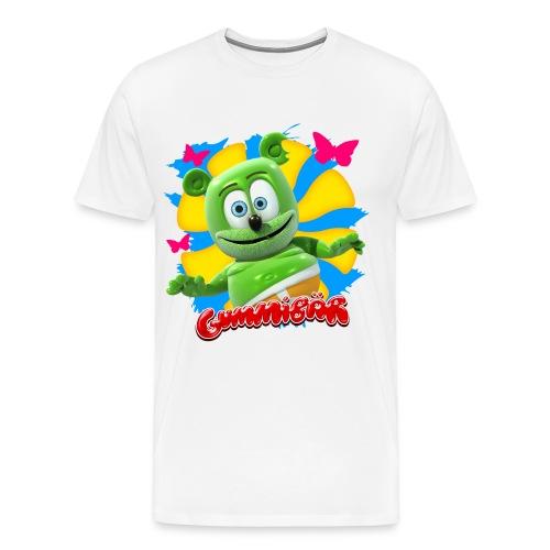 Gummibär (The Gummy Bear) Butterflies Men's 3XL & 4XL T-Shirt - Men's Premium T-Shirt