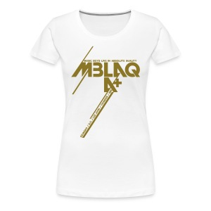 [MBLAQ] Diagonals (Metallic Gold) - Women's Premium T-Shirt