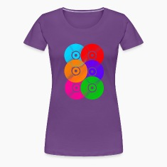 Vinyl Colours DJ Women's T-Shirts