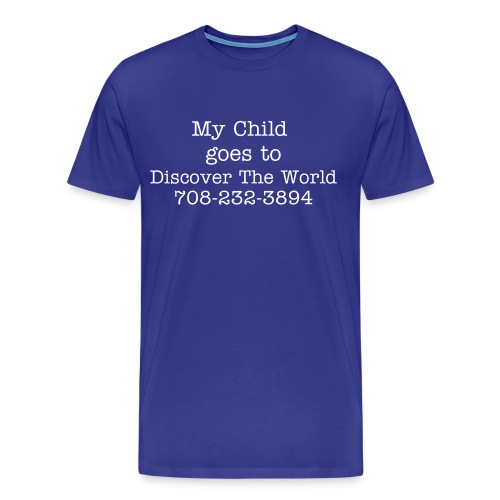 Men's Discover The World Plain Tee - Men's Premium T-Shirt