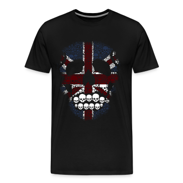 The British Skull Stencil Graphic desain T-Shirts