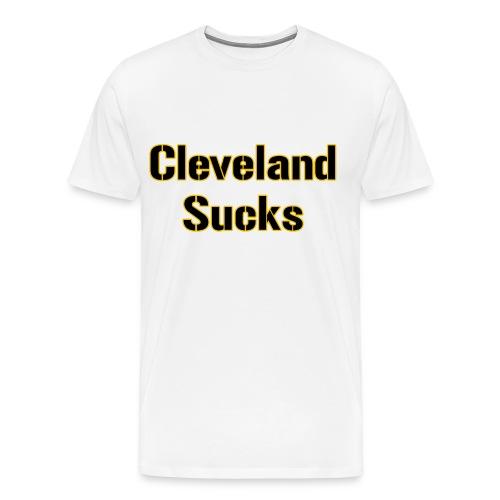 Cleveland Sucks Mens Heavy - Men's Premium T-Shirt