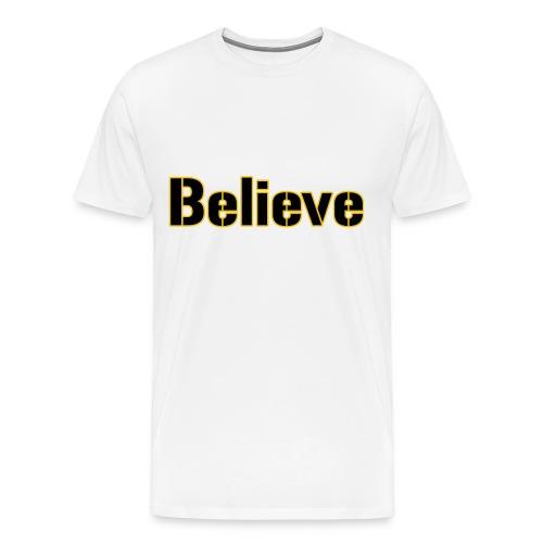 Believe Football Mens Heavy - Men's Premium T-Shirt