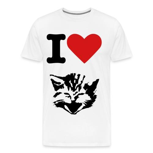 I <3 Cats - Men's Premium T-Shirt