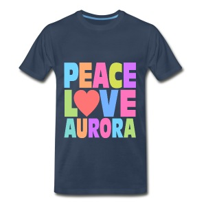 Peace Love Aurora - Men's Premium T-Shirt