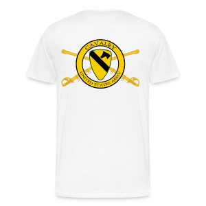 1st Cavalry Crossed Sabers - Men's Premium T-Shirt