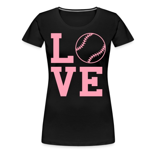 loves oftball - Women's Premium T-Shirt