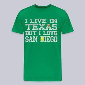 Live In Texas Love San Diego - Men's Premium T-Shirt