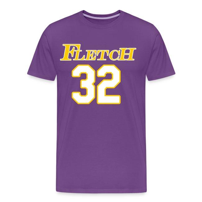buy popular 9dea7 68398 Fletch Laker Jersey 32 Cocktosen on Back   Men's Premium T-Shirt