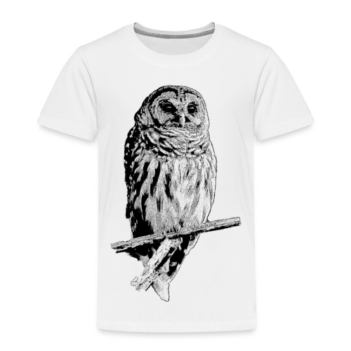 Barred Owl - 4768 - Toddler Premium T-Shirt