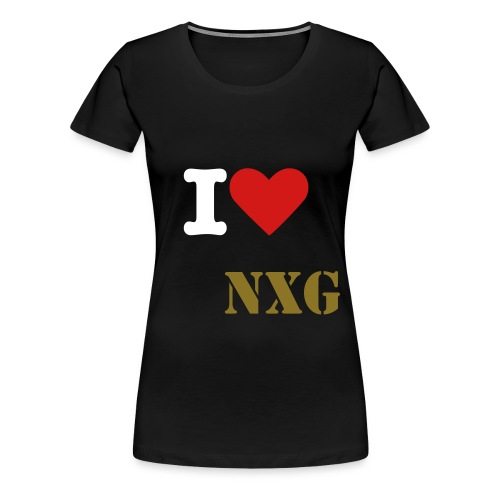 I love NxG Female - Women's Premium T-Shirt