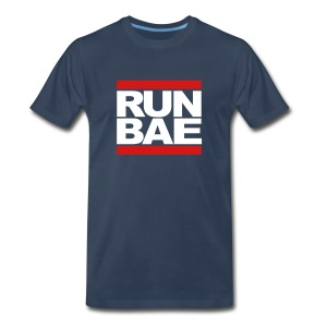 RUN BAE - Navy - Men's Premium T-Shirt