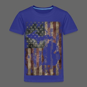 Michigan - USA Flag - Toddler Premium T-Shirt