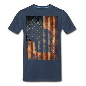 Wisconsin USA Flag - Men's Premium T-Shirt