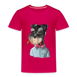 Toddler Premium T-Shirt - schnauzer,hot dog,dog,civilized animals,Fritz Froman