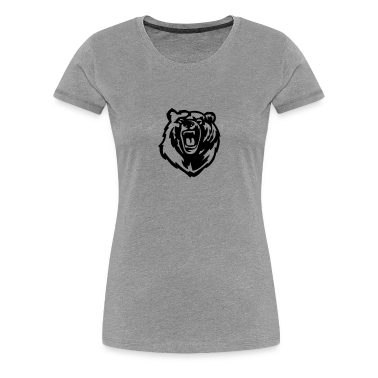 Grizzly Bear VECTOR Women's T-Shirts