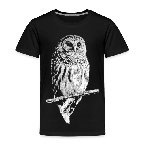 Barred Owl 4768 (white ink) - Toddler Premium T-Shirt