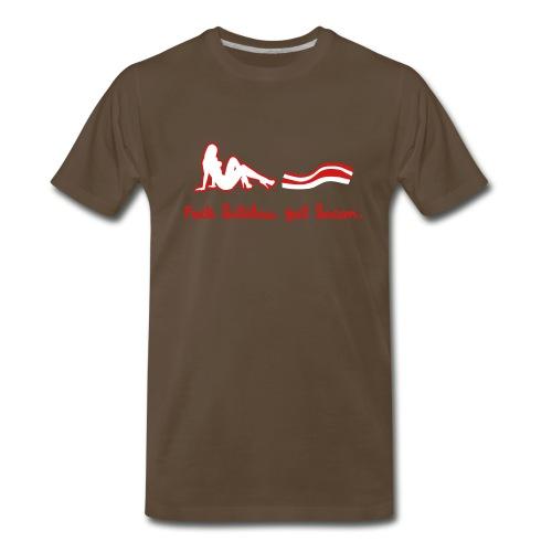 Fuck bitches, get bacon  - Men's Premium T-Shirt