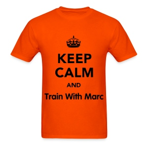 Keep Calm, TrainWithMarc - Men's T-Shirt