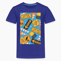 Construction Signs Kid's Shirt