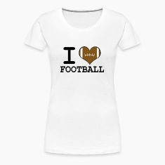 Women's Football Heart T-Shirt