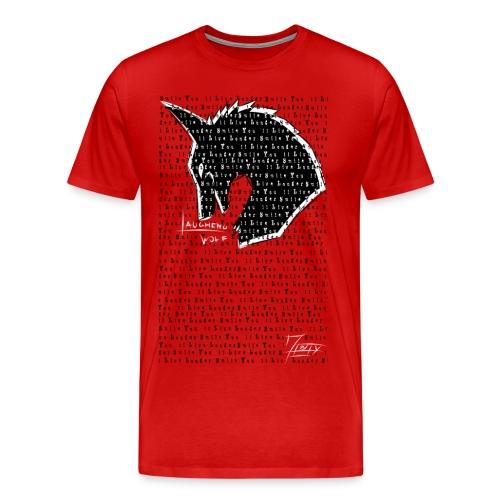 Smile You'll Live Longer Wolf - Men's Premium T-Shirt