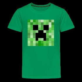 minecraft creeper full face pixelated pixel creative