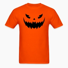 Really scary Halloween pumpkin face vector T-Shirts