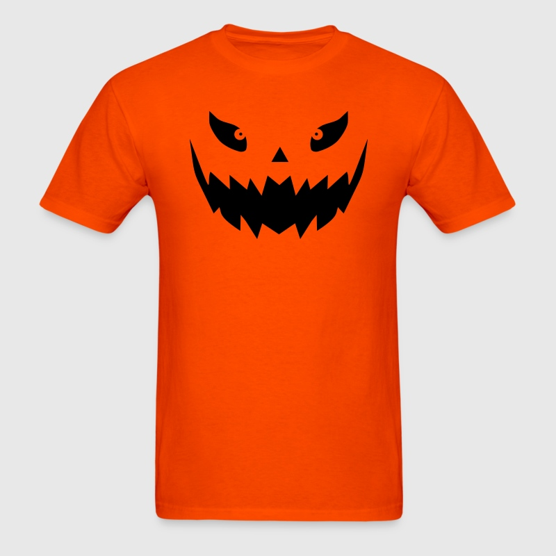 Really scary Halloween pumpkin face vector T-Shirts - Men's T-Shirt