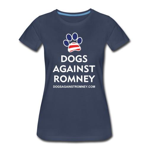 Official Dogs Against Romney Paw Women's Plus T-Shirt - Women's Premium T-Shirt