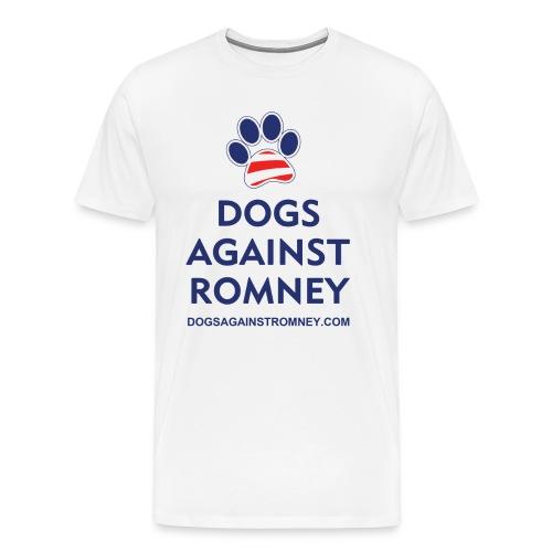 Official Dogs Against Romney Paw Big Man's T-Shirt - Men's Premium T-Shirt