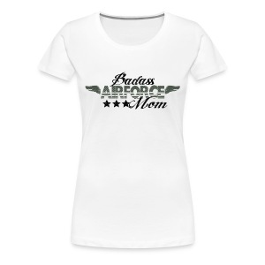 BAD ASS AIRFORCE MOM - Women's Premium T-Shirt