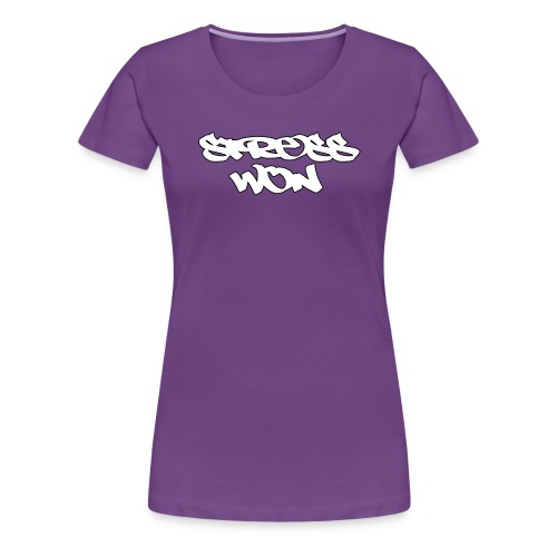 StressWon Tee Female Solid White Logo Tee - Women's Premium T-Shirt