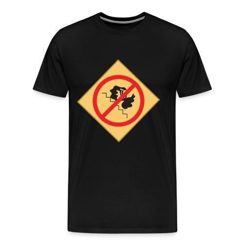 NO CELESTIA ON THE STAIRS - Men's Premium T-Shirt